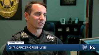 24/7 officer crisis line