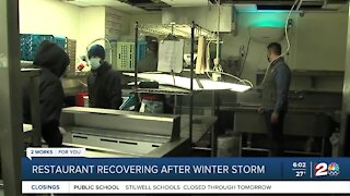 Restaurant recovering after winter storm