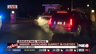 Baricaded suspect in custody after shots fired at deputies in Lehigh Acres