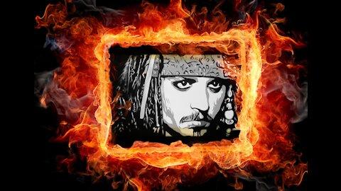 Johnny Depp Painting