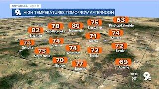 Record-level temperatures around the corner