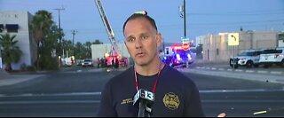 Crews responding to 2-alarm fire in Las Vegas valley