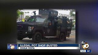Chula Vista pot shop busted