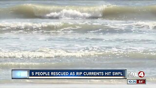 Five swimmers rescued from rip current