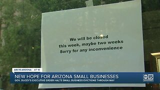 Gov Ducey issues executive order halting small business evictions