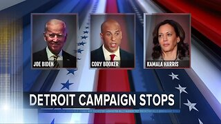 Democratic presidential candidates make Detroit stops after debate