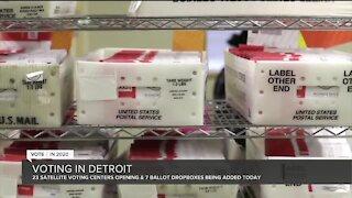 Detroit opens 23 satellite voting centers