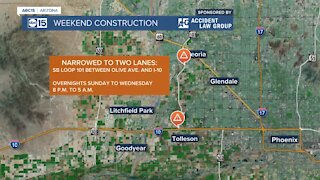Weekend construction projects for the Valley March 19-22
