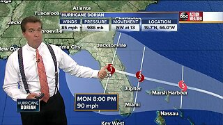 Hurricane hunters find Dorian strengthening, remains cat. 1 hurricane