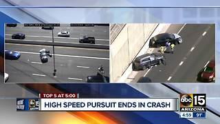 Suspect arrested after pursuit in Phoenix