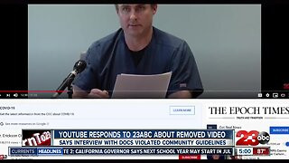 YouTube responds to 23ABC about removed video