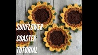 Crochet Sunflower Coaster Tutorial