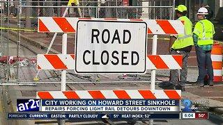 Underground sinkholes close Baltimore City streets
