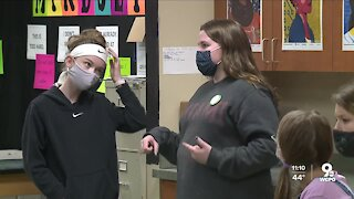 High school students share love of STEM with elementary girls