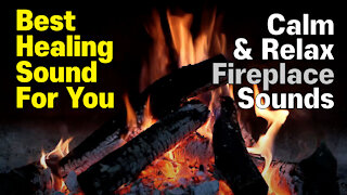 🎧 BURNING WOODS / FIREPLACE / CAMPFIRE ✰ Relax, Calm, Sleep, Study, Meditation, Stress Relief