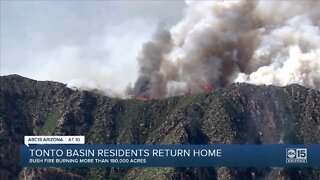 Tonto Basin residents able to return home after Bush Fire threatens houses