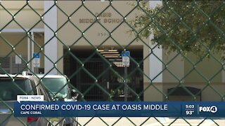 Confirmed COVID-19 case at Oasis Middle