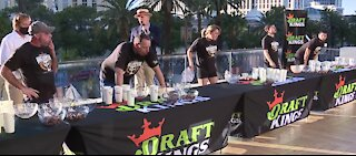 Draft Kings Halloween candy eating contest in Las Vegas