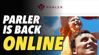 Parler is back online. New logo, new design