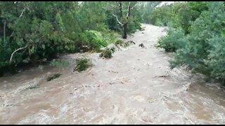 Rain causes flash flooding in Johannesburg (U5k)