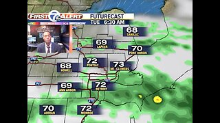 Showers and storms arrive tonight