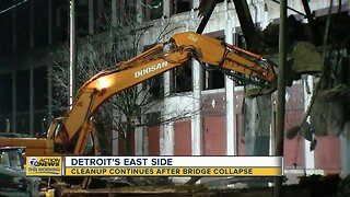 Cleanup continues after Packard Plant bridge collapse