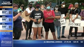 Tampa protests remain peaceful