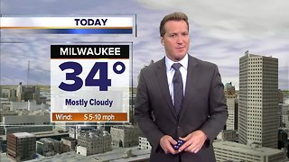 Mostly cloudy and warmer Friday