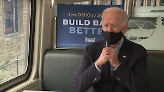 Former V.P. Joe Biden talks with News 5's John Kosich after first presidential debate