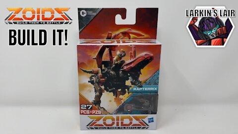 Build It! Hasbro ZOIDS Mega Battlers Rapterrix - Velociraptor, Larkin's Lair