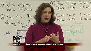 Gov. Whitmer travels to Jackson High School Thursday