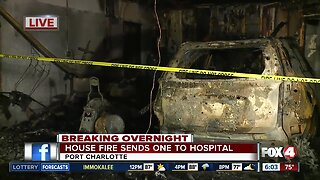 One person injured after house fire in Charlotte County