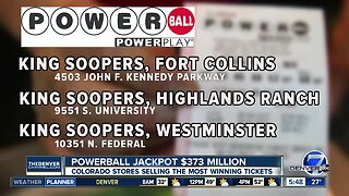 Colorado stores selling the most winning Powerball tickets