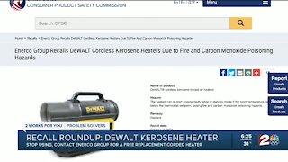 Recall Round Up: Kerosene heaters, sprayers