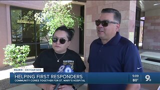 Community comes together to help first responders