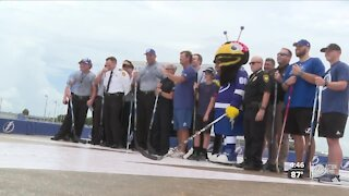 Lightning hold scrimmage with first responders