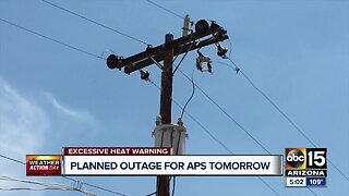 Planned outage for APS Thursday