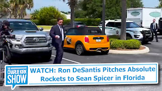 WATCH: Ron DeSantis Pitches Absolute Rockets to Sean Spicer in Florida