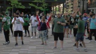 Bucks fans descend on Deer District for Game 2 against Heat