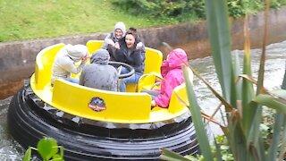 Water gun fun on the Alton Towers Congo River Rapids ride