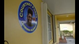 Courtney Fobbs Learning Academy in Riviera Beach honors shooting victim