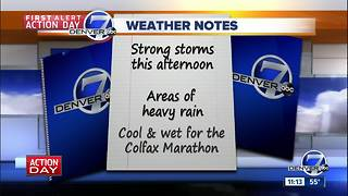 Friday forecast: Afternoon storms, flash flood watch