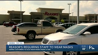 Reasor's Requiring Employees to Wear Face Masks
