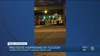 Protests in Tucson following celebration at UArizona