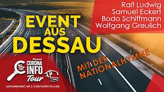 Dessau - die Maskenpflicht ist rechtswidrig - Nationalhymne