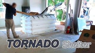 Tornado Shelter Installation ~ Underground Storm Shelter in Garage