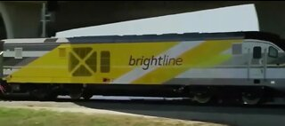 High-speed train on hold