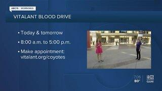 Arizona Coyotes hosting blood drive at Gila River Arena