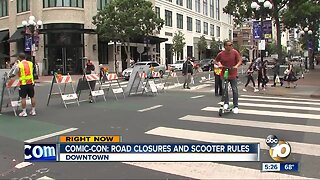 Comic-Con 2019: Road Closures and E-Scooter Rules