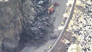 Chopper: Rockslide closes Colorado Highway 119 in Boulder Canyon
